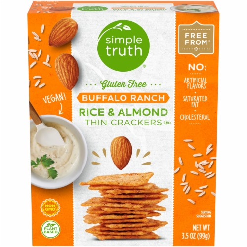Simple Truth® Gluten Free Buffalo Ranch Rice & Almond Thin Crackers Perspective: front
