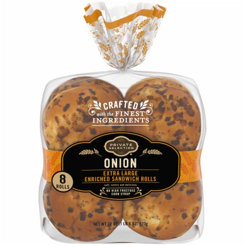 Private Selection™ Extra Large Onion Sandwich Rolls 8 Count Perspective: front