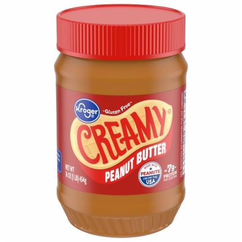 Kroger® Gluten Free Creamy Peanut Butter Perspective: front