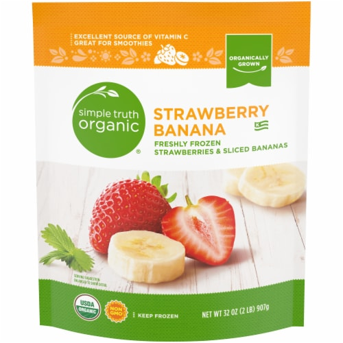 Simple Truth Organic® Strawberry Banana Perspective: front