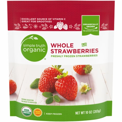 Simple Truth Organic Strawberries Perspective: front