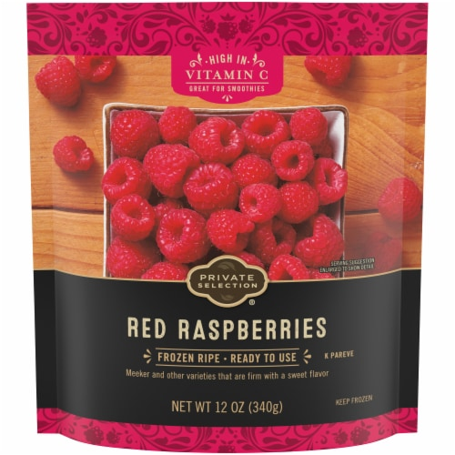 Private Selection® Frozen Red Raspberries Perspective: front