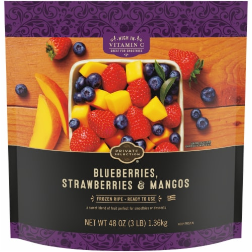 Private Selection® Blueberries Strawberries & Mangos Perspective: front