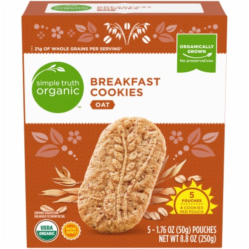 SimpleTruth Organic™ Oat Breakfast Cookies Perspective: front