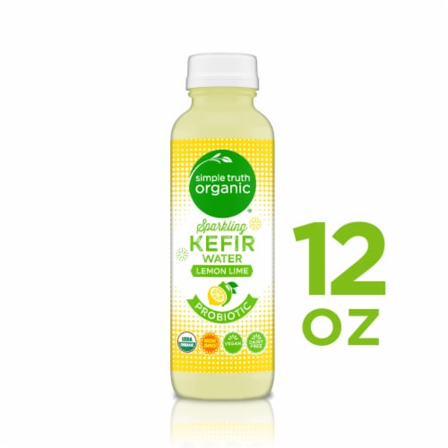 Simple Truth Organic™ Sparkling Probiotic Lemon Lime Kefir Water Drink Perspective: front