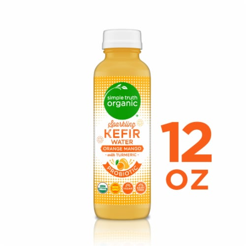 Simple Truth Organic™ Sparkling Probiotic Orange Mango Kefir Water Drink Perspective: front