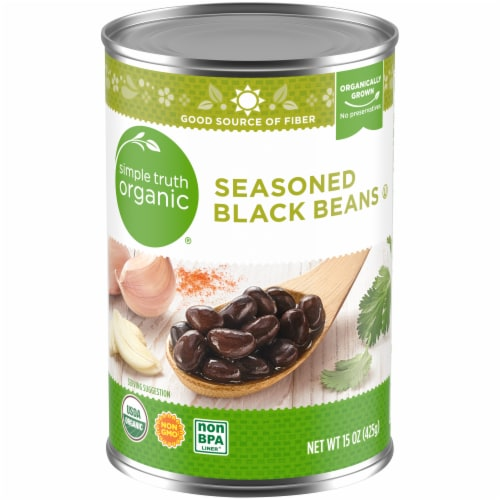 Simple Truth Organic® Seasoned Black Beans Perspective: front