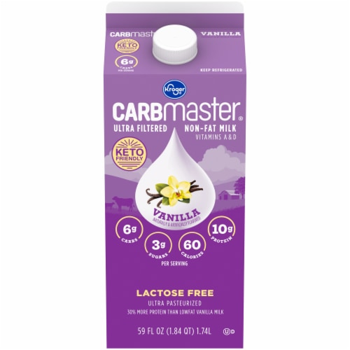 Kroger® CARBmaster® Ultra Filtered Non-Fat Vanilla Milk Perspective: front