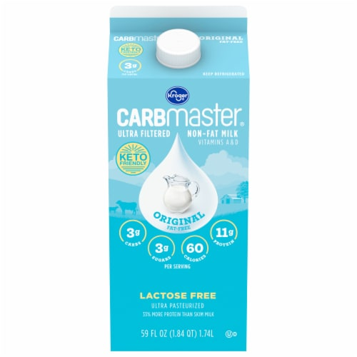 Kroger® CARBmaster® Ultra Filtered Non-Fat Original Milk Perspective: front