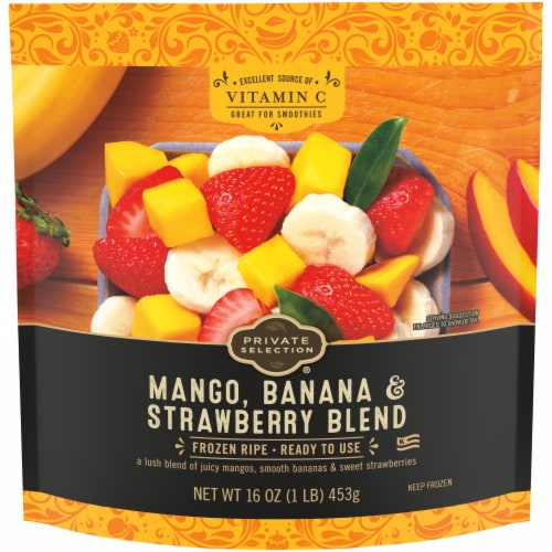 Private Selection® Banana, Strawberry and Mango Frozen Fruit Blend Perspective: front