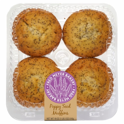 Bakery Fresh Goodness Lemon Poppy Seed Muffins Perspective: front