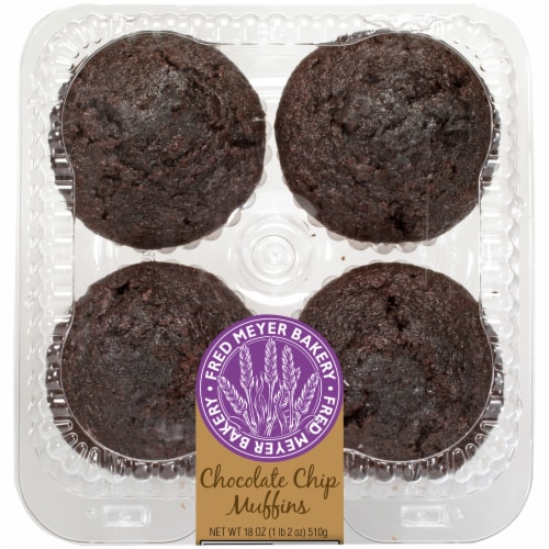 Fred Meyer Bakery Chocolate Chip Muffins Perspective: front