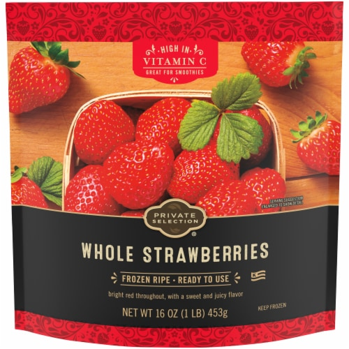 Private Selection® Whole Frozen Strawberries Perspective: front