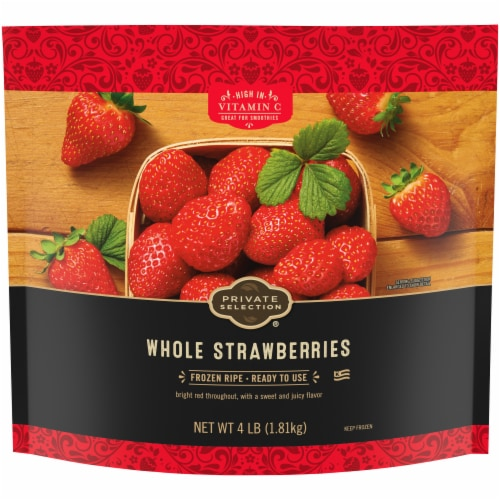 Private Selection® Frozen Whole Strawberries Perspective: front