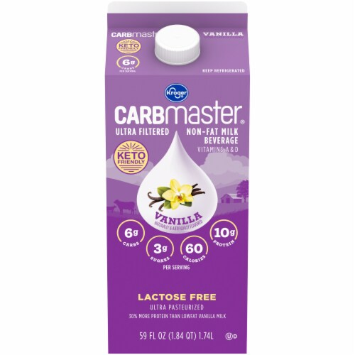Kroger® Carbmaster® Lactose Free Non-Fat Vanilla Milk Beverage Perspective: front