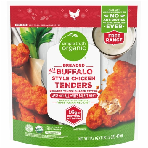 Simple Truth Organic® Breaded Mild Buffalo Style Chicken Tenders Perspective: front