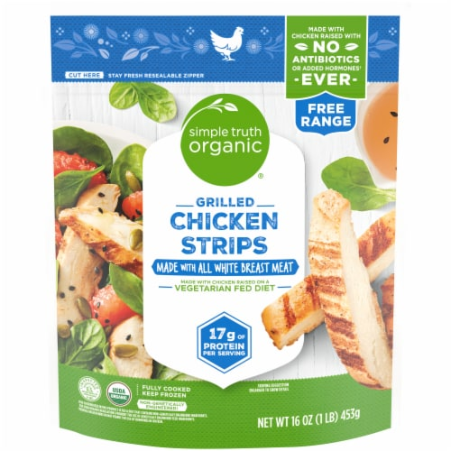 Simple Truth Organic® Grilled Chicken Strips Perspective: front
