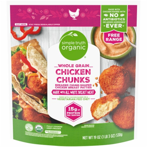 Simple Truth Organic® Whole Grain Chicken Chunks Perspective: front