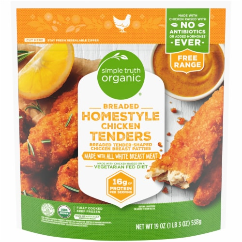 Simple Truth Organic™ Breaded Homestyle Chicken Tenders Perspective: front