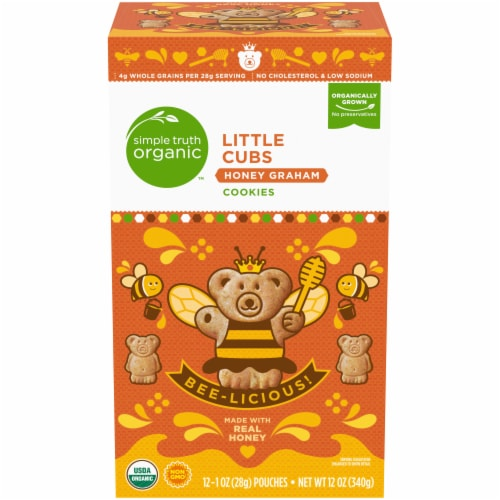 Simple Truth Organic™ Little Cubs Honey Graham Cookies 12 Count Perspective: front