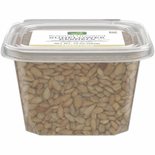 Kroger Natural Leaf Roasted Unsalted Sunflower Kernels Perspective: front