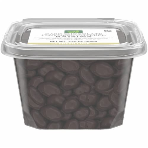 Dark Chocolate Flavored Covered Raisins Perspective: front