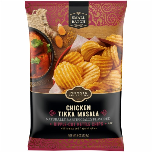 Private Selection® Chicken Tikka Masala Ripple-Cut Kettle Chips Perspective: front
