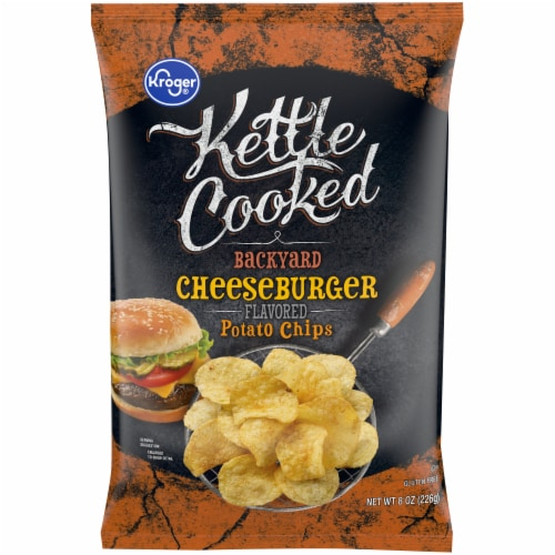 Kroger® Kettle Cooked Backyard Cheeseburger Potato Chips Perspective: front