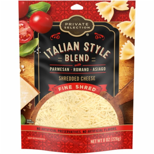 Private Selection® Italian Style Blend Shredded Cheese Perspective: front