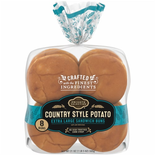 Private Selection® Country Style Potato Extra Large Sandwich Buns Perspective: front