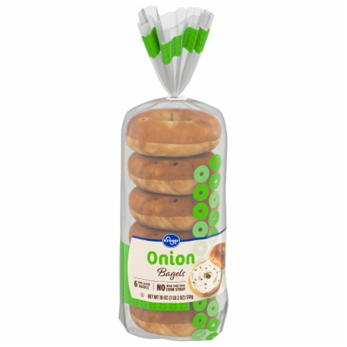 Kroger® Onion Pre-Sliced Bagels Perspective: front