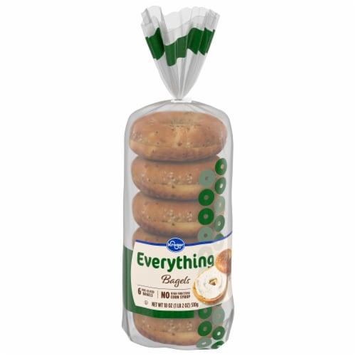 Kroger® Everything Pre-Sliced Bagels Perspective: front