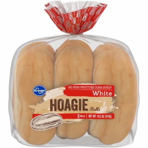 Kroger® Unseeded Soft Hoagie Rolls Perspective: front