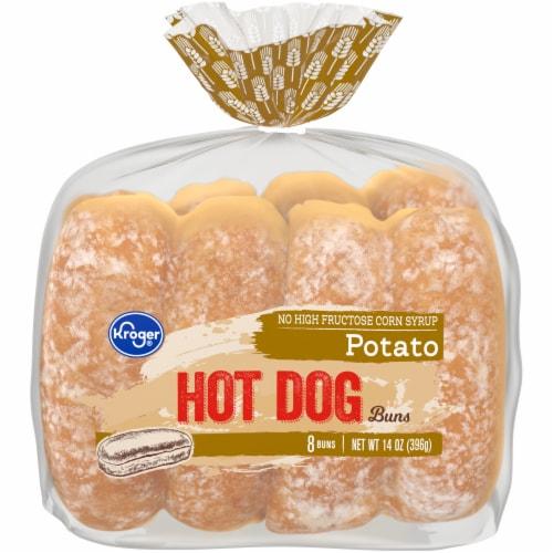 Kroger® Potato Hot Dog Buns Perspective: front