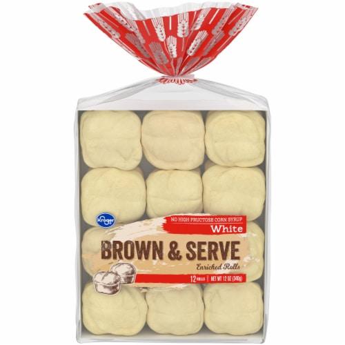Kroger® White Brown & Serve Enriched Rolls - 12 Count Perspective: front