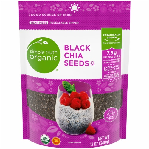 Simple Truth Organic® Black Chia Seeds Perspective: front