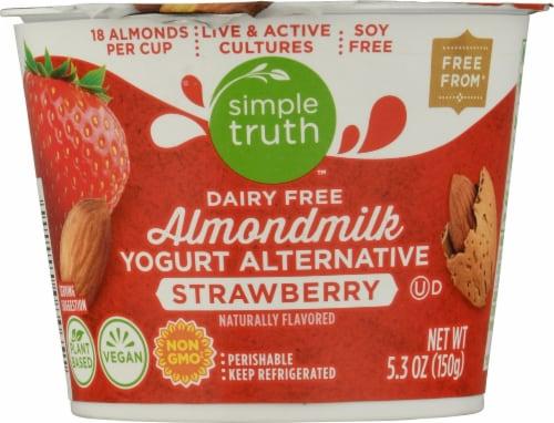Simple Truth™ Dairy Free Almondmilk Strawberry Yogurt Alternative Perspective: front