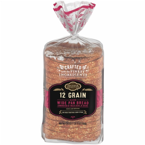 Private Selection® 12 Grain Sliced Wide Pan Bread Perspective: front