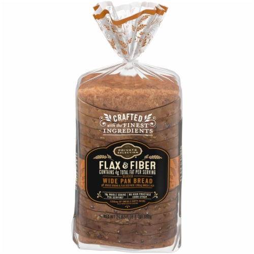 Private Selection® Omega Flax & Fiber Wide Pan Bread Perspective: front