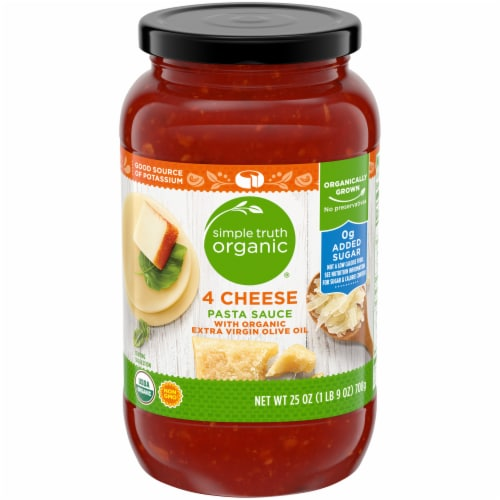Simple Truth Organic® 4 Cheese Pasta Sauce Perspective: front