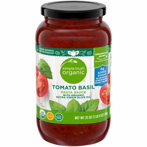 Simple Truth Organic® Tomato Basil Pasta Sauce Perspective: front