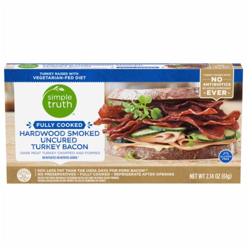 Simple Truth™ Fully Cooked Uncured Hardwood Smoked Turkey Bacon Perspective: front