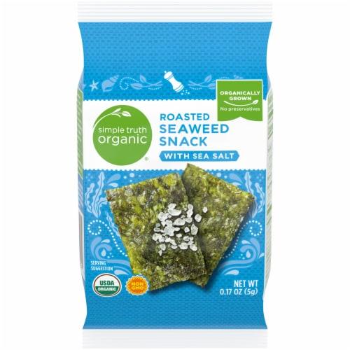 Simple Truth Organic® Sea Salt Roasted Seaweed Snack Perspective: front