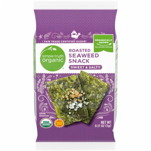 Simple Truth Organic® Sweet & Salty Roasted Seaweed Snack Perspective: front