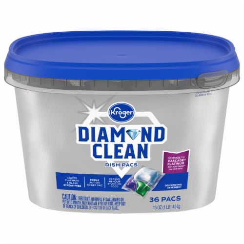 Kroger® Diamond Clean Automatic Dishwashing Pacs Perspective: front