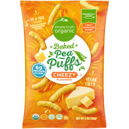 Simple Truth Organic Cheezy Baked Pea Puffs Perspective: front