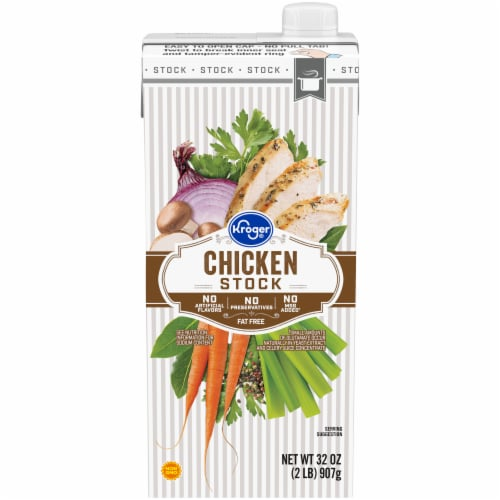 Kroger® Fat Free Chicken Stock Perspective: front
