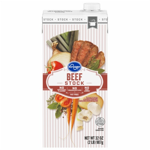 Kroger® Fat Free Beef Stock Perspective: front