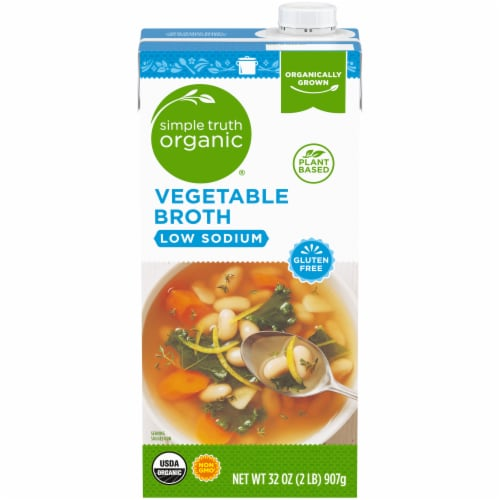 Simple Truth Organic® Gluten Free Low Sodium Vegetable Broth Perspective: front