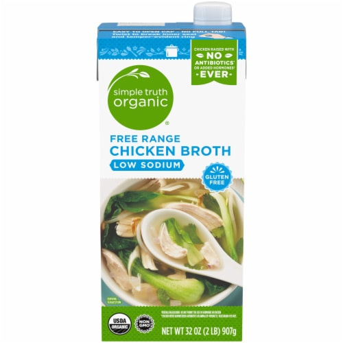 Simple Truth Organic® Low Sodium Gluten Free Free Range Chicken Broth Perspective: front